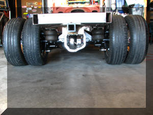 Tires mounted back on axle